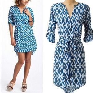 Anthropologie Maeve Frequencies Ikat Shirt Dress